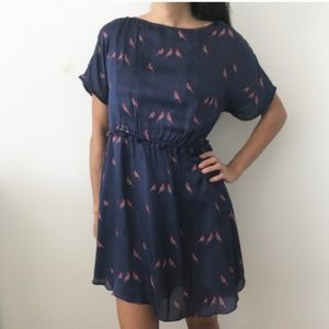 Marc Jacobs 100% Silk Dress in Navy Blue